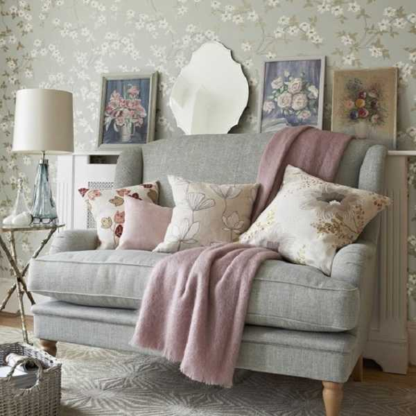 Gray And Pink Color Schemes For Modern Interior Decorating