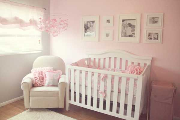 Soft And Tender Light Gray Pink Color Scheme For Bedroom Decorating