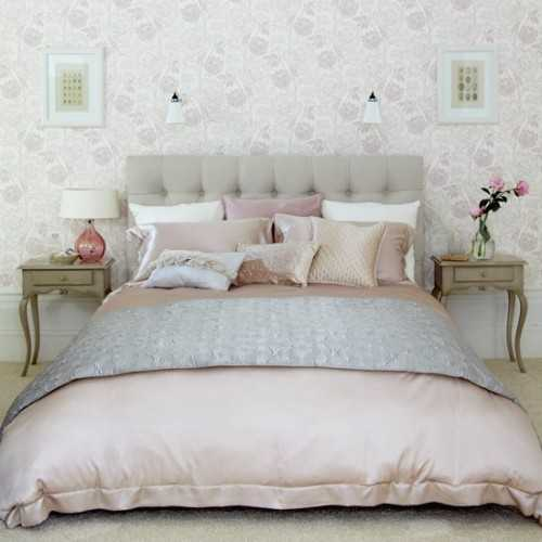 Attrayant Soft And Tender Light Gray And Pink Color Scheme For Bedroom Decorating