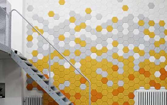 Hexagonal Desk Lamp Shades Continue Geometric Interior