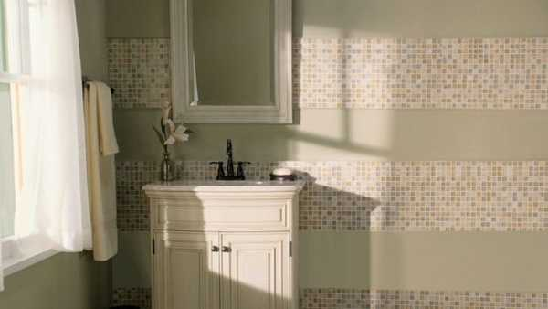 Modern Bathroom Remodeling Ideas, DIY Tiled Wall Design ...