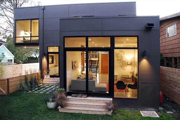 Contemporary home features modern interior design with - Exterior design of modern houses ...