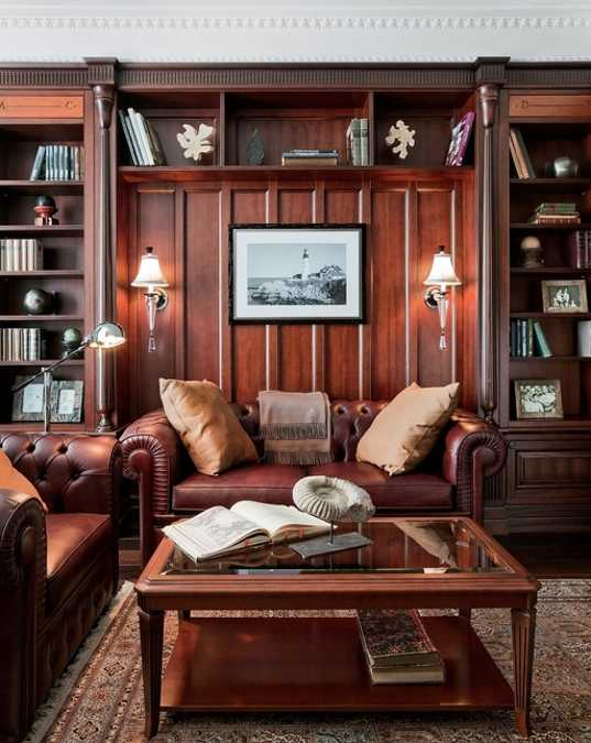 Black Color Elegance And Classic Style Create Gorgeous Masculine Interior Design