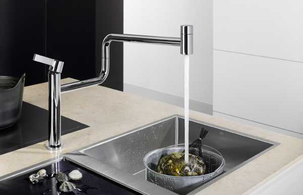 New Kitchen Faucet Rotates 48 Degrees Improving Modern Kitchen Beauteous Kitchen Faucet Design