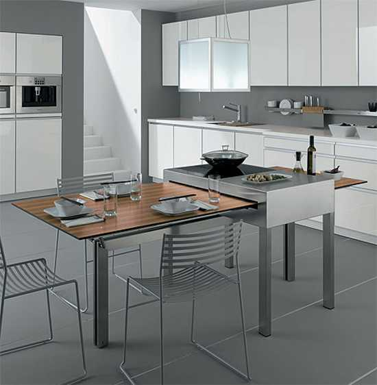 Modern Tables for Small Kitchens Show Adjustable ...