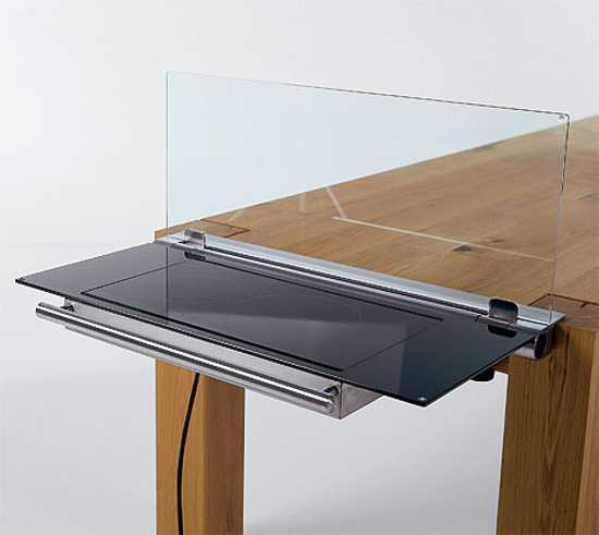 glass protected dining table