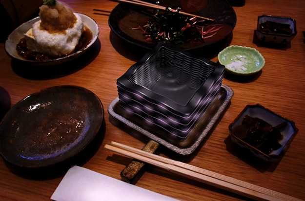 japanese modern tableware with led lights