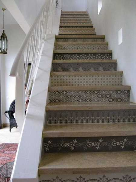 Adding Beautiful Wallpapers To Stairs Risers For Original
