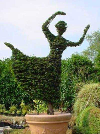Pretty Up Your Backyard Designs With Topiary Art Adding