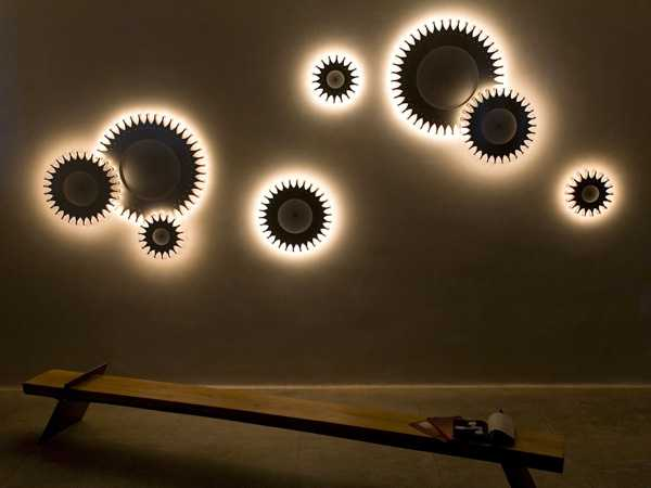 Amazing wireless schproket lights blend romance with mechanics into