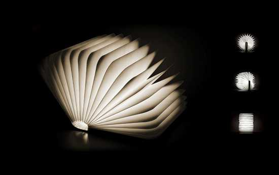 unfolding book lamp