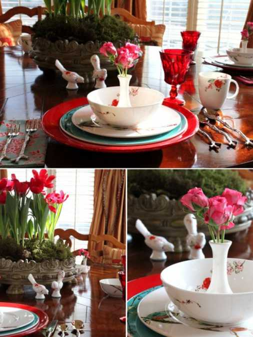 15 Valentines Day Ideas for Creative Table Decoration in Romantic Style