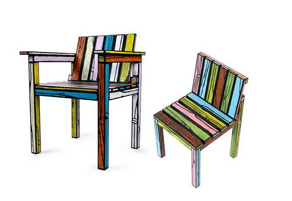 wooden chairs, wood texture inspired painting ideas for wood furniture decoration