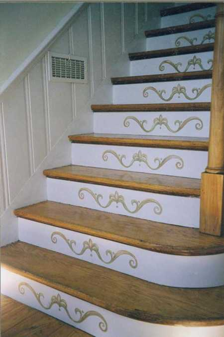Revamp Staircase Design With Easy Stencil Decoration