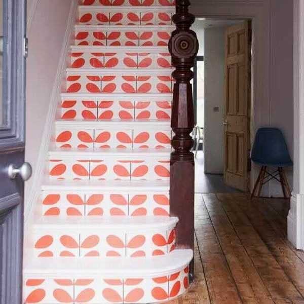 25 Pretty Painted Stairs Ideas: Revamp Staircase Design With Easy Stencil Decoration
