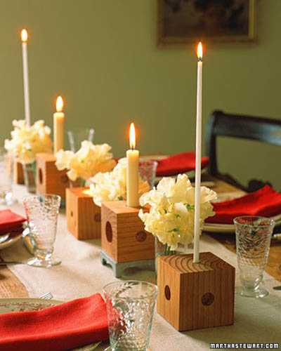 Floating Candles Centerpieces With Flowers, Creative Table Decoration Ideas