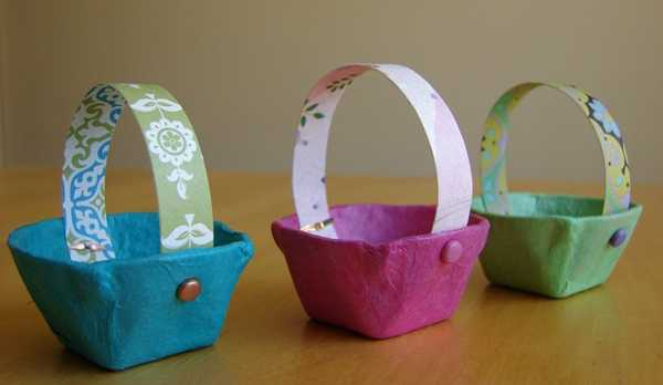 paper crafts for kids easter baskets