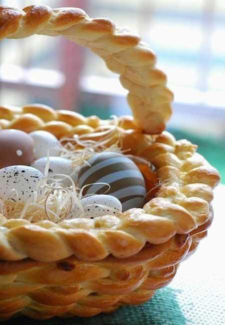dough basket for easter eggs