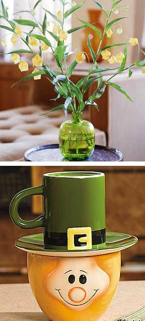 green colors and creative decorating ideas for st patricks