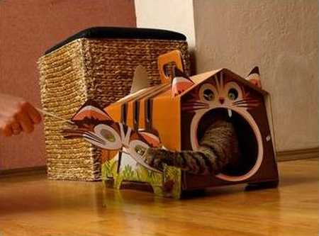Diy Cardboard Cat Houses 3 Creative Pet Design Ideas From
