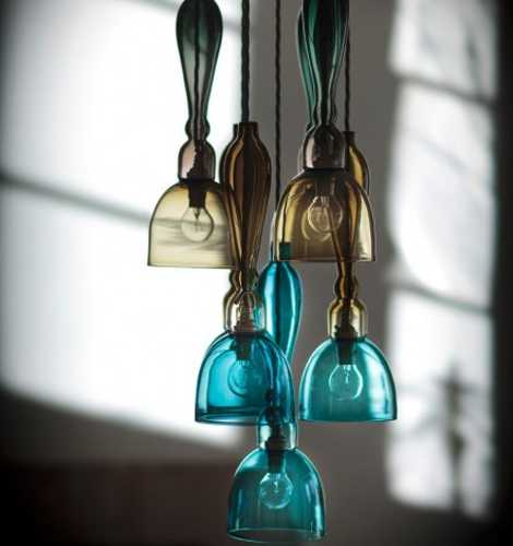 Romantic interior decorating with handmade colored glass lighting colored glass pendant light aloadofball Image collections