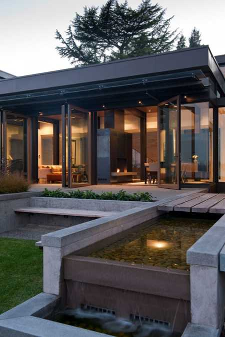 Beautiful Yard Landscaping Ideas Modern House Design With Large Windows Allowing To Enjoy Spectacular Views