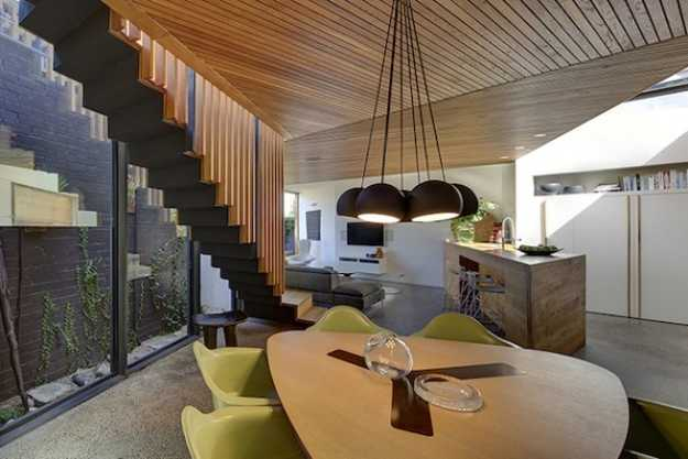 Unusual House Exterior Design and Nature Inspired Modern Home Interiors