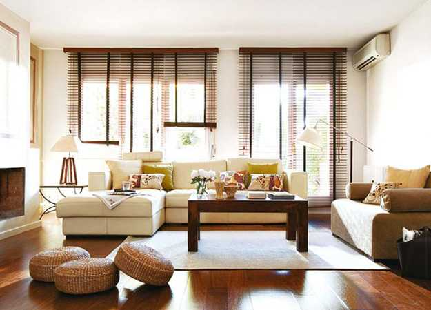 Stylish Interior Decorating With Functional Modern Window Blinds Gorgeous Living Room Window Blinds