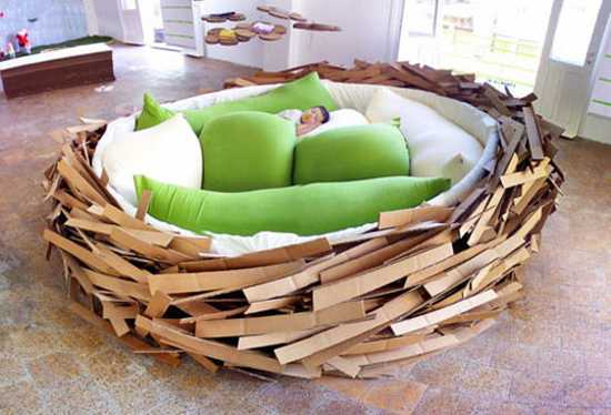 Bird Nest Inspired, Unique Furniture And Lighting Design Ideas