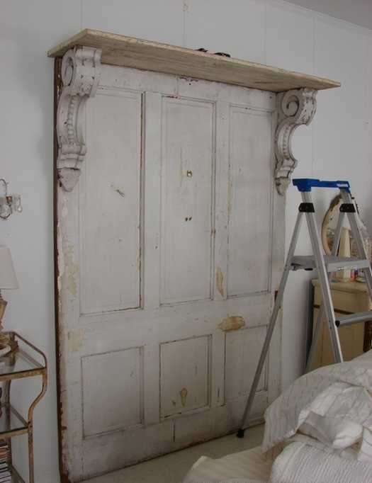 30 Modern Wall Decor Ideas Recycling Old Wood Doors for ...