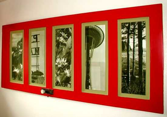 30 Modern Wall Decor Ideas Recycling Old Wood Doors for Unique Room ...