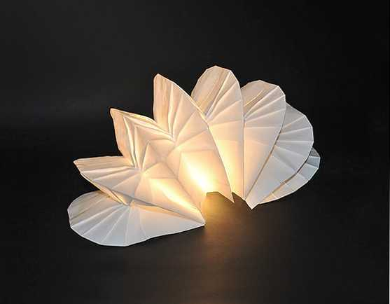 Unique Lighting Fixtures Blending Recycling Paper With Art