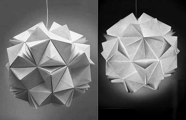 Unique lighting fixtures blending recycling paper with art of design