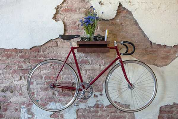 wall decoration with bike