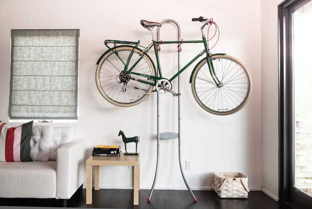 interior decorating with bike
