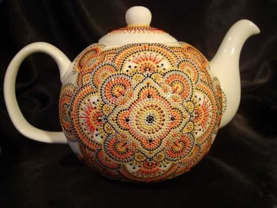 Amazing Painting Ideas Turning Ceramic Tea Pots And Mugs