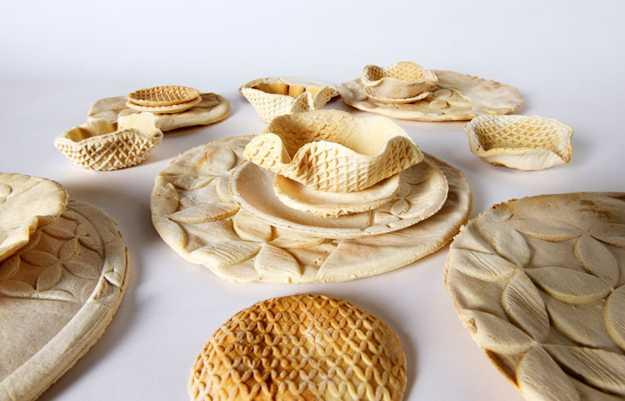 baked edible tableware