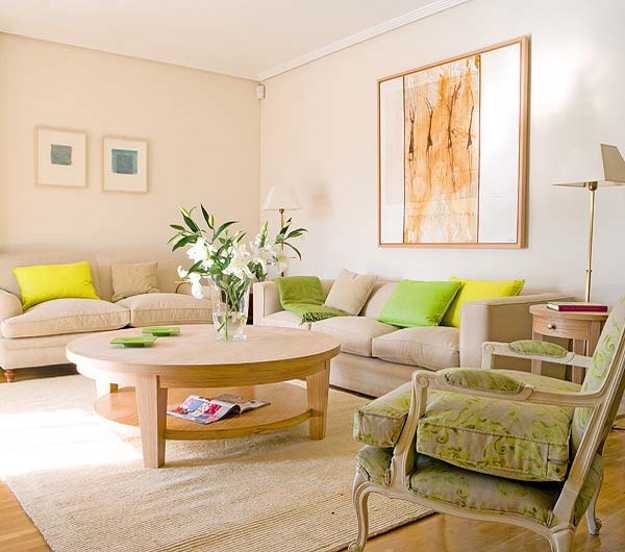 3 Modern Living Room Designs in Fresh Green Color Inspired ...