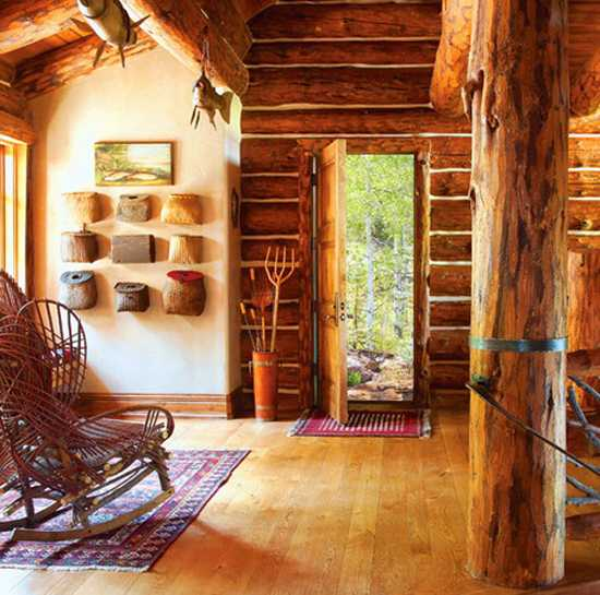 Mountain Home Interiors Integrating Trees And Branches In