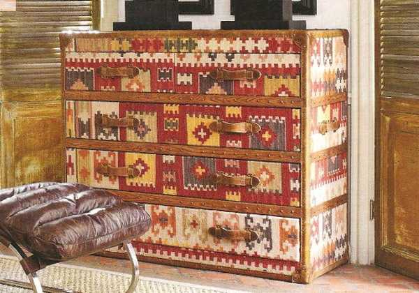 Furniture Decoration With Kilim Upholstery Fabric