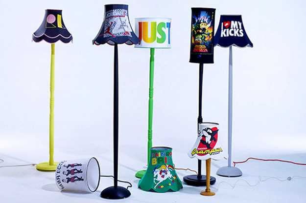 Recycling old clothes for colorful lamp shades creative interior floor lamps aloadofball Choice Image