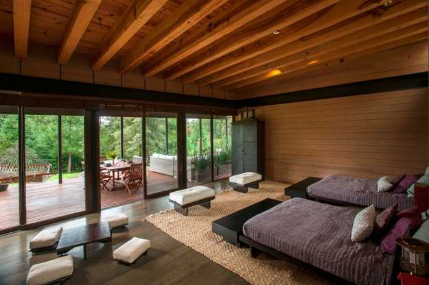 Spectacular modern house design delights with wood and for Home design furniture
