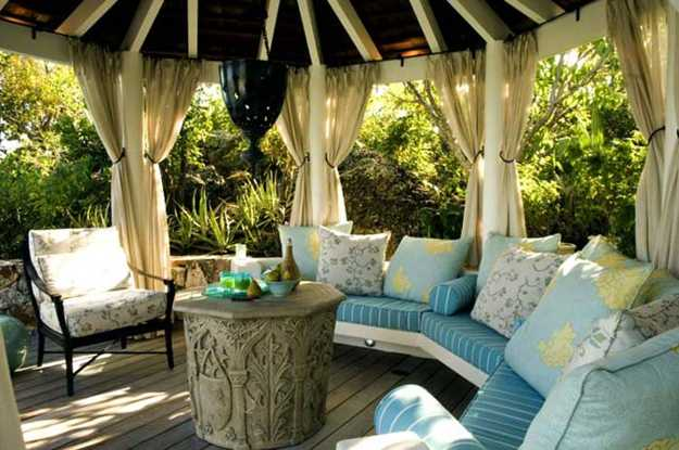 gazebo furniture ideas patio furniture corner sofa with bright pillows and coffee table colorful patio ideas stripes 22 porch gazebo backyard patio ideas creating beautiful outdoor