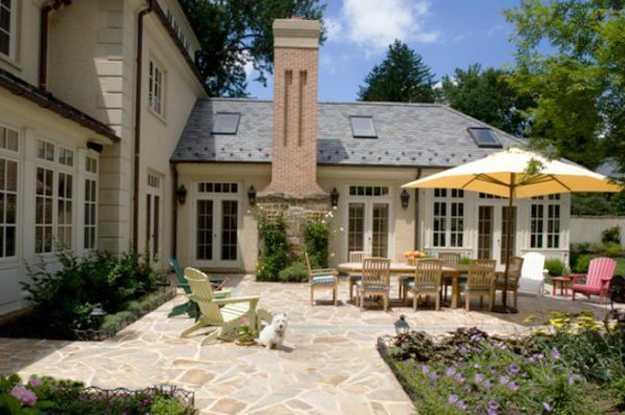 large stone patio ideas