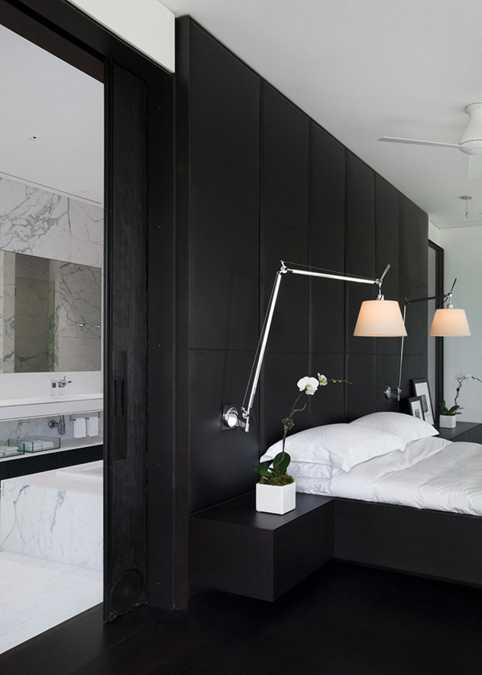 Contemporary Black And White Rooms In Elegant Penthouse