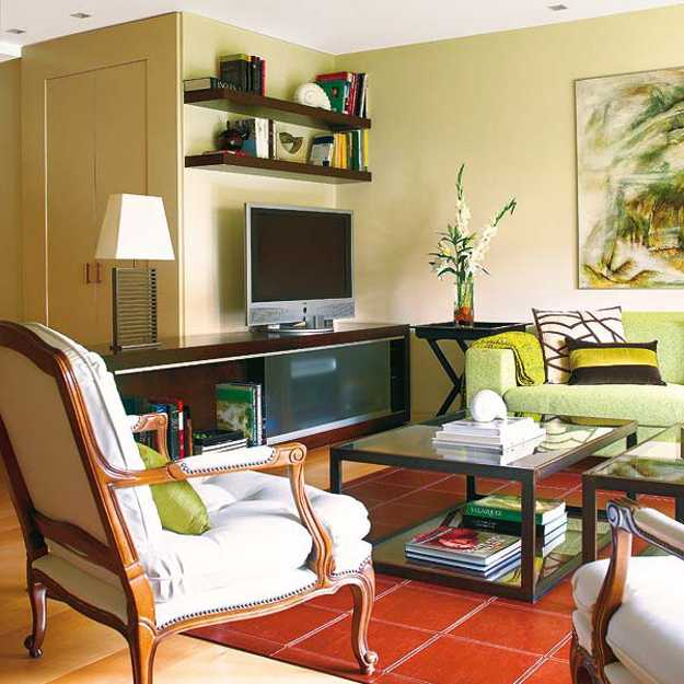 Purple Interior Designs Living Room: Purple, Red And Light Green Color Combinations That