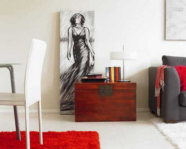 red accents for modern interior design