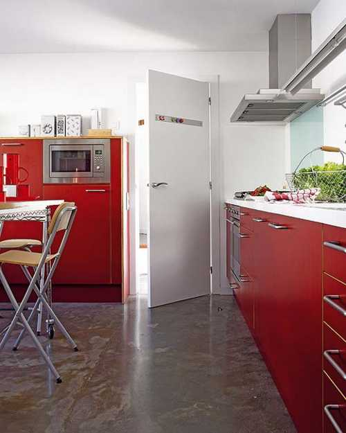 2 Modern Kitchen Designs In White And Red Colors Creating