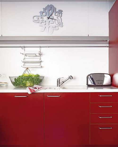Kitchen Design Red And White: 2 Modern Kitchen Designs In White And Red Colors Creating