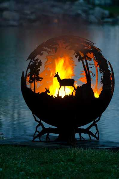 yard decorations, metal fire pits
